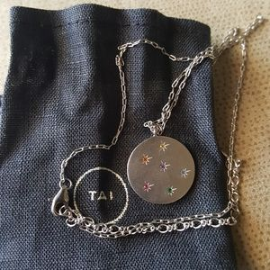 TAI silver medallion pendant necklace